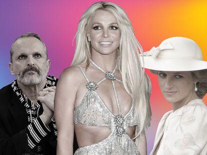 En el centro, Britney Spears, una de las entrevistas más deseadas por las grandes cadenas de Estados Unidos. Con ella, Miguel Bosé y Diana de Gales, dos entrevistados que, en diferentes décadas, concedieron entrevistas explosivas que dieron que hablar durante semanas.