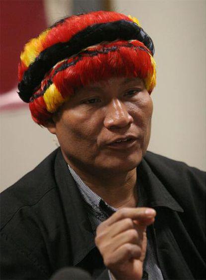 El presidente de la Asociación Interétnica de Desarrollo de la Amazonía Peruana (Aidesep), Alberto Pizango.