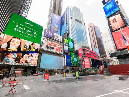 Times Square, en Nueva York, el 26 de agosto.