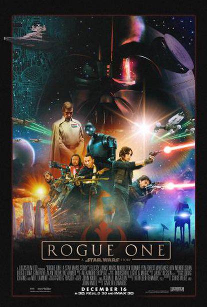 Póster de Star wars. Rogue one, primer spin-off de la saga.