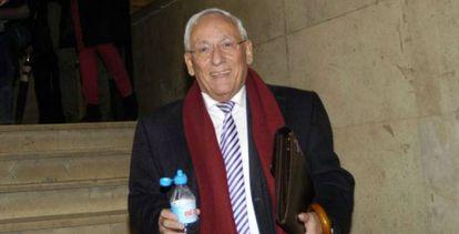 El expresidente de la entidad, Atilano Soto, en los juzgados de Segovia.