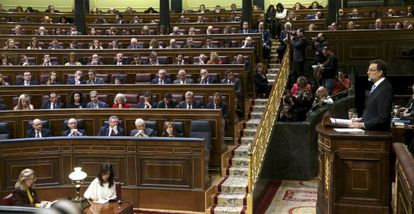 Mariano Rajoy en el último debate del estado de la nación.