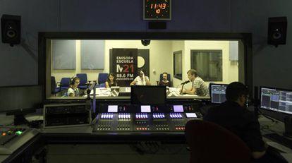 La emisora escuela M21 Radio del Ayuntamiento de Madrid.