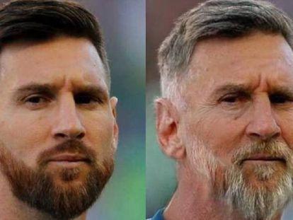 Imagen del jugador Leo Messi tras la aplicación del filtro de envejecimiento de FaceApp.