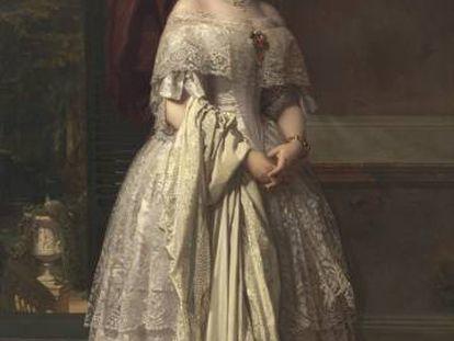 'Josefa del Águila Ceballos, luego marquesa de Espeja', óleo de Federico de Madrazo y Kuntz donado por Alicia Koplowitz.