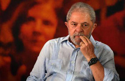 El expresidente brasileño Luiz Inácio Lula da Silva el día que anunció su candidatura a las elecciones de octubre en enero de 2018