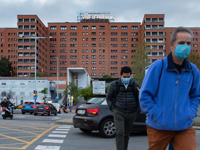 Vista del Hospital Vall d'Hebron de Barcelona este jueves.