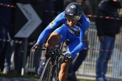 Colombia's Nairo Quintana pedals during the 7th stage of the Tirreno Adriatico cycling race, in San Benedetto del Tronto, Italy, Tuesday, March 14, 2017. (Dario Belingheri/ANSA via AP)