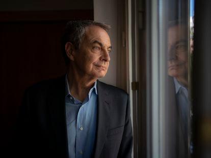 El expresidente del Gobierno José Luis Rodríguez Zapatero, el jueves en la Fundación Pablo Iglesias, en Madrid.