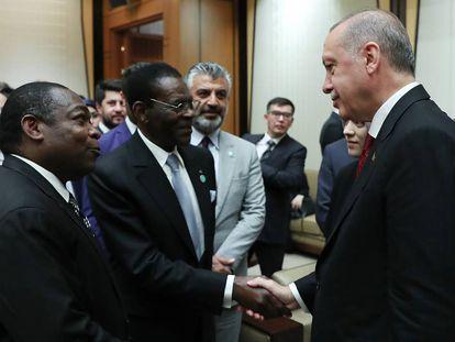 Teodoro Obiang, durante una visita a Turquía el 9 de julio.