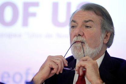 Jaime Mayor Oreja, portavoz del PP en el Parlamento Europeo.