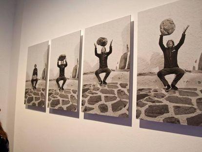 Cuatro de las imágenes de Dalí realizadas por Whitaker.