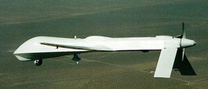 Modelo de avión no tripulado predator que usa Estados Unidos.
