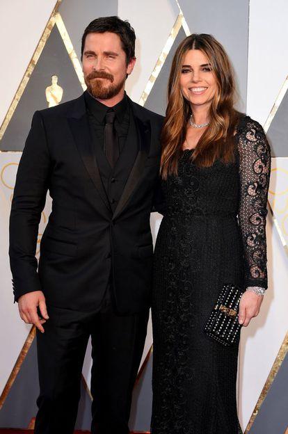 El actor Christian Bale y su esposa, Sibi Blazic.