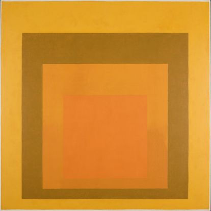 'Homage to the Square: Amber Setting', (1959) del artista Josef Albers