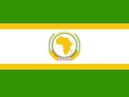 Bandera de la Unión Africana.