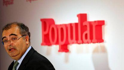 Ángel Ron, presidente del Popular, el pasado 30 de enero.