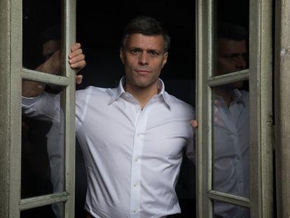 Leopoldo López, este lunes en Madrid.