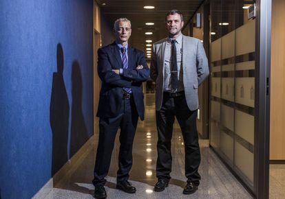 De izquierda a derecha, Juan José López Ossorio y José Luis González, jefes del Área de Estudios del Gabinete de Coordinación y Estudios de la Secretaría de Estado de Seguridad.