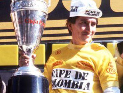 Lucho Herrera, vencedor en la Vuelta a España de 1987.