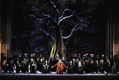 Acto tercero de <i>Falstaff</i>, representado en el teatro Farnese de Parma.