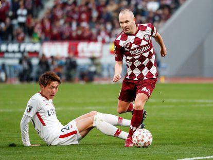 Andrés Iniesta, en un partido con el Vissel Kobe japonés.