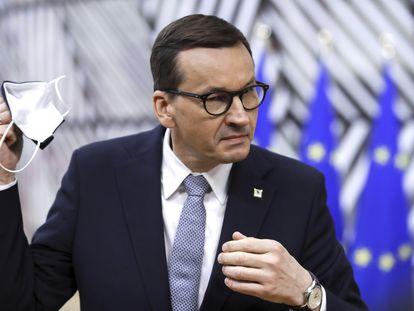 El primer ministro polaco, Mateusz Morawiecki, en mayo en el Consejo Europeo, en Bruselas.