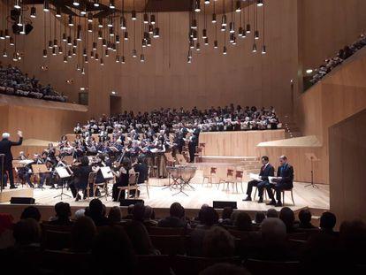 Uno de los momentos del concierto participativo de 'El Mesías' en Zaragoza, el pasado 15 de diciembre.