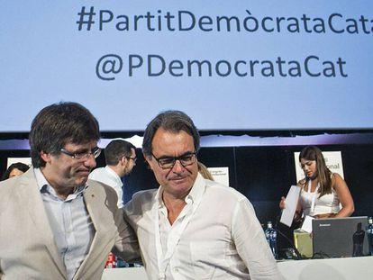 Artur Mas y el presidente de la Generalitat, Carles Puigdemont
