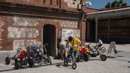 La biciescuela en Matadero, donde también se alquilan bicicletas.