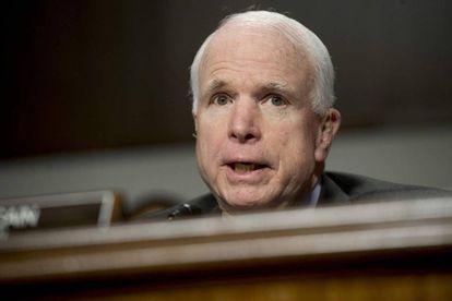 El senador John McCain, en el Senado el pasado febrero.