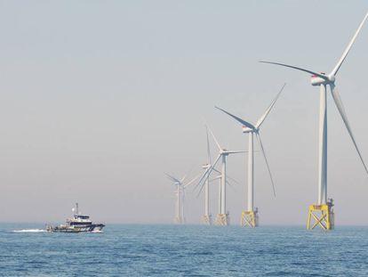 Parque eólico marino East Anglia One de Iberdrola en el mar del Norte, puesto en marcha en plena pandemia.