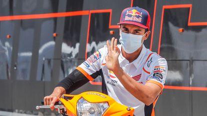 Marc Márquez, durante el fin de semana del GP de Andalucía.