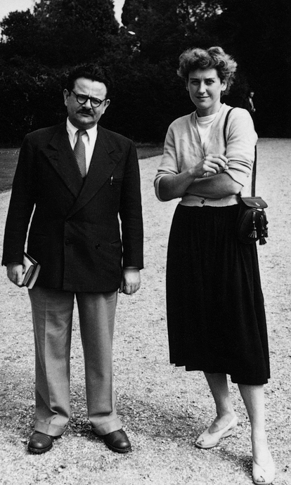 Elias Canetti and Clement Glock, in Bryanston, in 1948.
