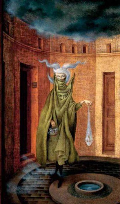 'Mujer saliendo del psicoanalista' (1960), de Remedios Varo.
