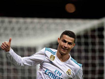 Cristiano Ronaldo durante el partido ante el Borussia Dortmund.