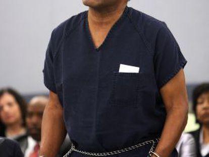 Simpson, durante el proceso por asalto en Las Vegas que finalmente lo llevó a la cárcel en 2008.