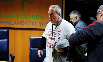 Los afectados comparecieron en el Parlamento vasco en 2014.