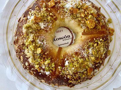 Pieza ganadora de Panadería Brulée, mejor Roscón de Reyes de Madrid 2021. J.C. CAPEL
