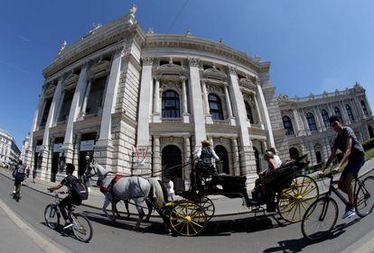 Un carruaje tradicional, en Viena, Austria.