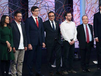 Los candidatos del 21-D, esta noche antes del debate de La Sexta.