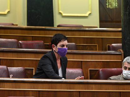 La portavoz parlamentaria de EH Bildu Mertxe Aizpurua durante el pleno del Congreso de los Diputados, el pasado 17 de noviembre.