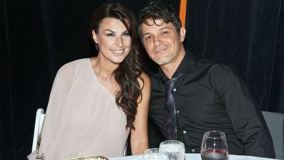 Raquel Perera y Alejandro Sanz, en Miami (Florida, Estados Unidos), en 2011.