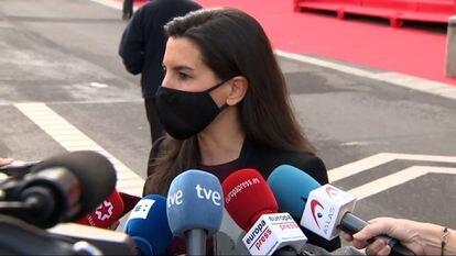 Rocío Monasterio atiende a la prensa en una imagen de archivo.