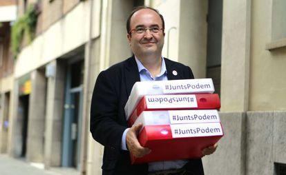 Miquel Iceta, con los avales a su candidatura