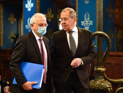 Lavrov recibía a Borrell el viernes en Moscú.