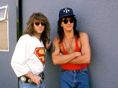 Jon Bon Jovi y Richie Sambora a finales de los ochenta. Los dos lideraron el grupo hasta que la lucha de egos acabó con la salida de Sambora.