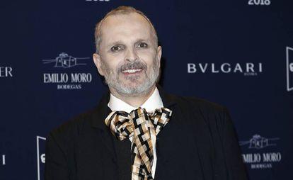 El cantante Miguel Bose, en el tributo de Telva a Naty Abascal, el pasado 9 de octubre.