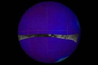 Imagen de la región Xanadu tomada desde la sonda 'Cassini'.