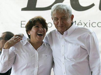 Delfina Gómez y López Obrador.